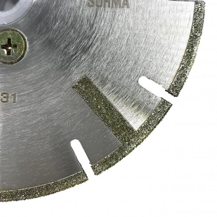 Отрезной диск по мрамору D125*2.5*4, с фланцем
