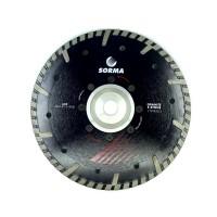 Отрезной диск D230*2,7*8 M14 с фланцем, NTP турбо с протектором по граниту Sorma