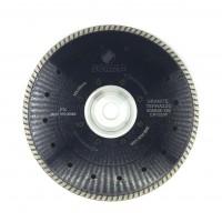 Отрезной диск D230*2.6*7, M14, PS турбо, с фланцем, по граниту Sorma