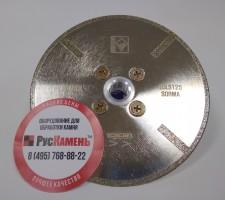 Отрезной диск D125*2,5*4 M14 с фланцем, EDL гальванический с протектором по мрамору Sorma