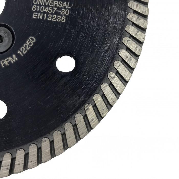 Отрезной диск D125*2,4*7 M14 с фланцем, DS турбо по граниту Sorma