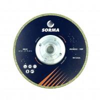 Отрезной диск D125*2,5*33 M14 с фланцем, EDLX гальванический, с подшлифовкой по мрамору Sorma