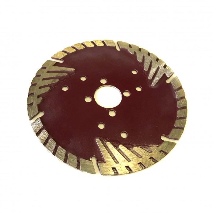 Отрезной диск по граниту D125*22,2*8*2.4, Турбо протектор Виш