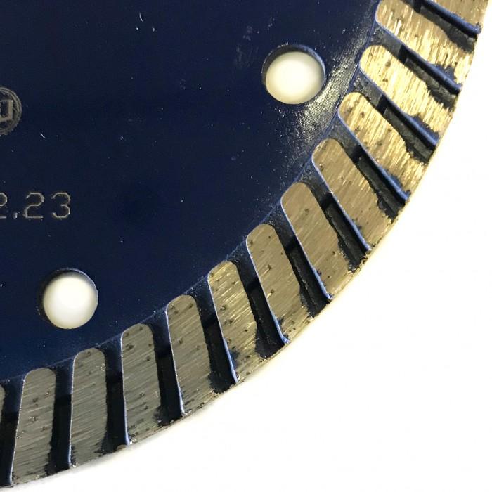 Отрезной диск по граниту D125*22,2*10*2.6, Турбо синий