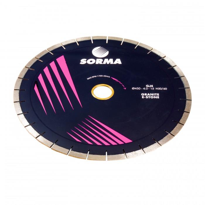 Отрезной диск D450*40*4  60/50, H15, гранит, бесшумный