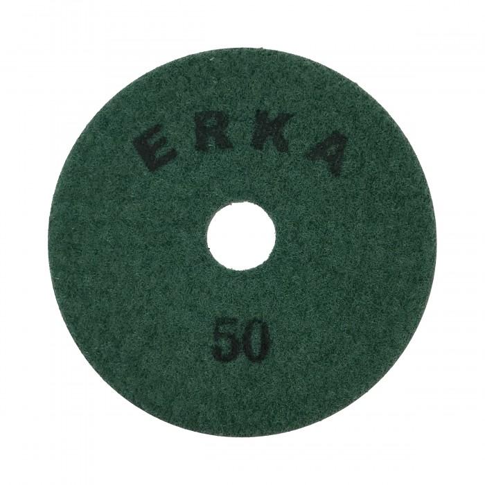 Гибкие шлифовальные диски с подачей воды D100 зерн. 50 ERKA
