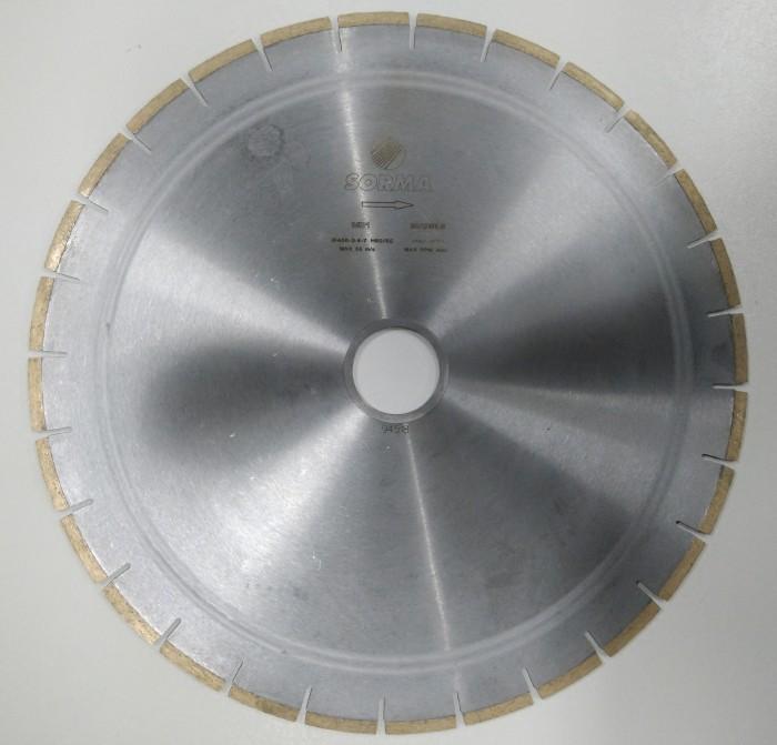 Отрезной диск D400*90, H7, мрамор, бесшумный