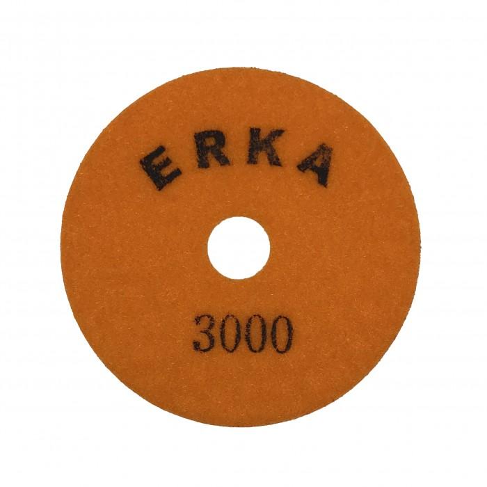 Гибкие шлифовальные диски для работы без подачи воды D100 зерн. 3000 ERKA
